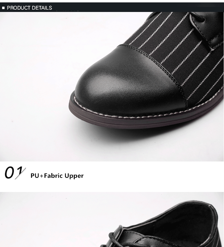 Misalwa New Unique Men Stripes Oxfords Men Loafers Casual Daily ... 332f3704892a
