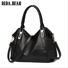 DIDA BEAR Large Women Leather Tote bags Girl Shoulder Shopping bag Ladies Fashion Handbag Femme Sac A Main Black Brown Red White