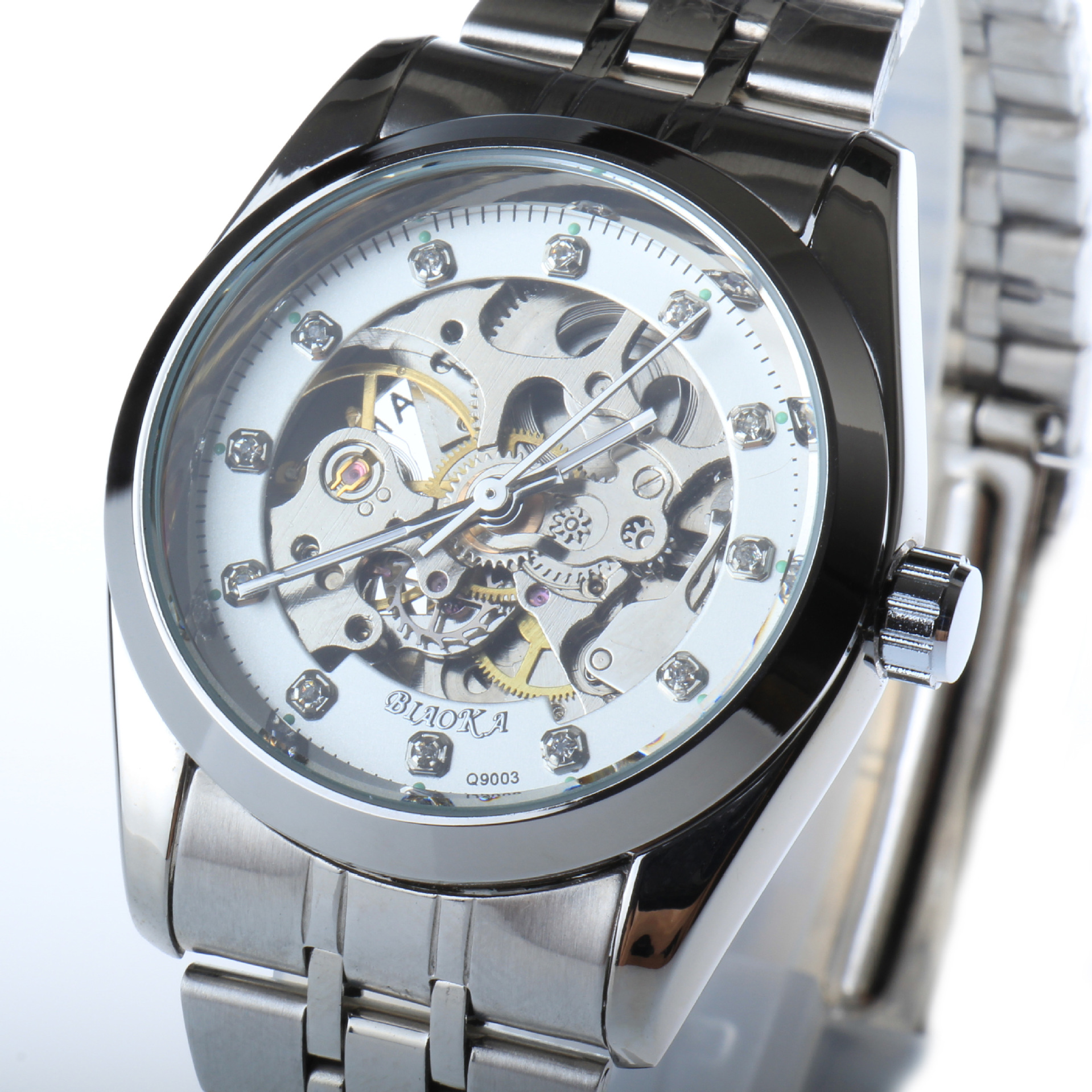 Top Brand BIAOKA watch Luminous male table waterproof men s automatic mechanical watch man Clock Stainless Steel Wristwatch<br>