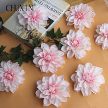 12cm Silk peony flower head Artificial chrysanthemum simulation DIY wedding Background decoration Portrait background 30pcs(China)
