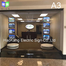 A3 double side acrylic photo frame led light box for window hanging real estate sign(China)