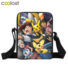 Anime Pokemon Pikacun Mini Messenger Bag Kyogre Pidgeotto Girls Boys School Bags Kids Book Bag Shoulder Bags For Snacks Lunch(China)