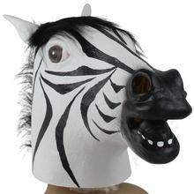 Halloween Suppliers Zebra Mask Latex Animal Costume Prop Halloween For Halloween 100% Brand New And High Quality New