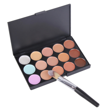 New 15 Colors Contour Face Cream Makeup Concealer Palette Powder Brush  DHL EMS UPS #BSEL