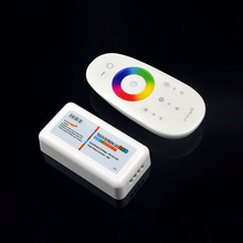1Set Wireless RF 2.4G Touch Screen Remote LED RGB Controller Dimmer 12V-24V 3 Channel Control For LED Strip light lamp Downlight