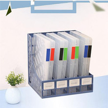 1 Pc Imixlot Plastic A4 Files Storage Box 4 Colors Office Daily Use Document Case Boxes Home Supplies(China)