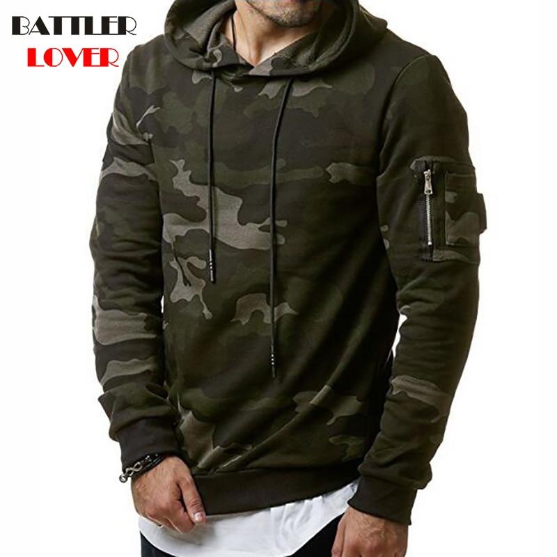 Camouflage Design Pullovers Hoodies Men Autumn Hooded Hoodies Mens Biker Sweatshirts Hip Hops Homme Casual Hombre Hoody Jacket