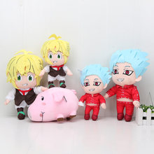 Аниме The Seven Deadly Plush Toy Sins Meliodas Elizabeth Liones Nanatsu no Taizai Wrath мягкие игрушки плюшевые куклы Подарки(Китай)