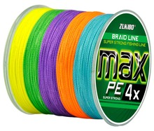 ZUKIBO MAX 10M1Color 300M 4 strands super strong Japan multifilament 100% PE fishing line braided braided wires 8 15 20 30 50LB(China)