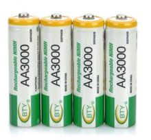 New 4pcs BTY Ni-MH 1.2V AA Rechargeable Battery 800 mah 2A Baterias Bateria for Camera Model:AA 3000