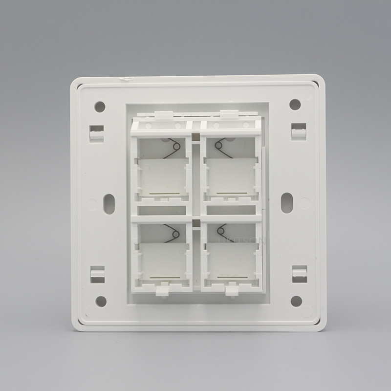 Four Ports Blank Wall Outlet Panel pic 4
