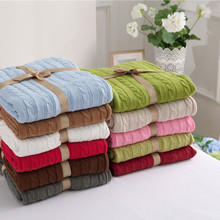 Bedspread Blanket On The Couch Cobertor 100% Cotton knitted plaid Travel baby 11 colors sofa plaids for summer 180X110CM