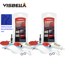 Visbella 2pc Car window repair Windscreen Scratch Chip Crack Restore fix Glass renwal Tools Auto Windshield Repair Kit Polishing(China)