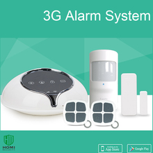 Jianshu S1 3G WCDMA alarm home wireless 64 zones motion sensors door sensors Call SMS security system