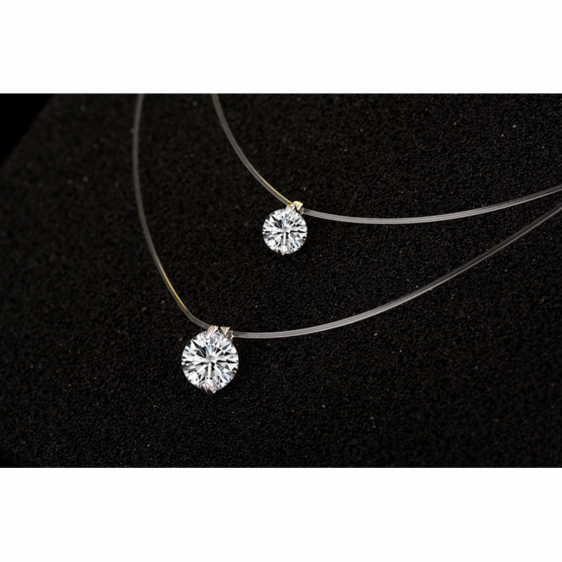 YAAMELI-One-Zircon-Clearly-Austrian-Crystal-Pendant-Fashion-Silver-Chain-Short-Women-Necklaces-For-Women-Female (2)