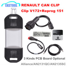 New V172 Renault Vehicle Diagnosis Tool Reprog 151 CAN Clip Tester Renault Can Clip Gold PCB Full Chip Powerful Renault Clip(China)