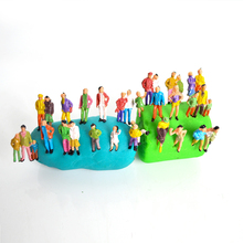 Buy HO scale 1:87 ABS plastic model train painted figures, scale people passengers building train layout for $4.50 in AliExpress store