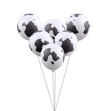 GOGO PAITY 10pcs / lot New white printed dairy cow round latex balloon children holiday party layout toys wholesale(China)