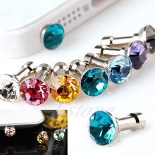 Earphone Headphone Diamonds Dust Plug Dust Cap 3.5mm Crystal Universal Mobile Phone Accessory(China)