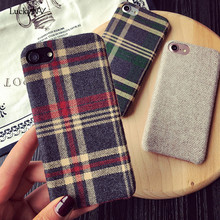 2017 High Quality Velvet Soft Silicone Plaid Bear Classic Phone Cover Shell Skins for IPhone 6 6S 6 Plus 6S Plus 7 7 Plus(China)