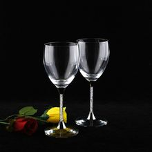 1 pair Fashion crystal diamond glass goblet free shipping/ Fashion wine glass beer glass/ Creative red wine glass gift(China)