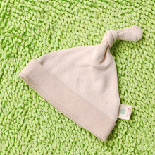 Baby Hat - Nural color organic cotton batting newborn baby hat cap sleeve head cap warm #1608286(China)