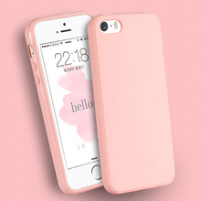 Solid Candy Color Fundas TPU Rubber Case Cover for iPhone 5 iPhone 5S Silicon Case Glossy Back Cover phone case