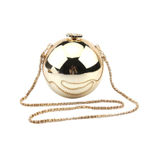 Women Pearl Purse Boll Evening Party Mini Handbag Beaded Clutch Crystal Chain Bag Round Perfume Shape Wedding Bags 2016 New