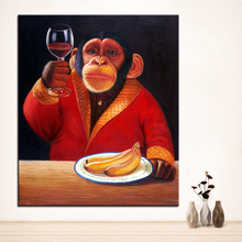 Wall Art, Wall Decor, Wall Painting Monkey Digital oil Painting Print, Nice Painting for wall picture no frame
