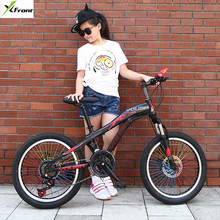 New Brand Mountain Bike Carbon Steel 21 Speed 20/24 inch Wheel Child Lady Student Bicycle Outdoor Sport Disc Brake BMX Bicicleta(China)