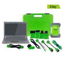 [JDiag Dealer] WIFI JDiag Elite II Pro with New Laptop Full Version Professional J2534 Diagnostic Programmer Tool FVCI MS908P(China)