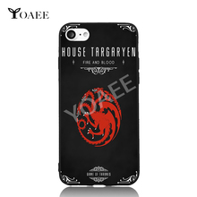 House Targaryen Song of Ice and Fire Fun Art For iPhone 6 6s 7 Plus Case TPU Phone Cases Cover Mobile Protection Decor Gift(China)