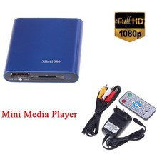 1080P HDMI SD/MMC/USB HD Multimedia player Mini Media Player support MKV/RM/RMVB with IR Remote(China)