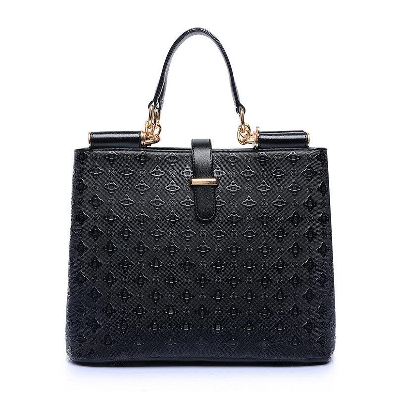 High Quality Ladies Shoulder Bags Messenger Bag Hot Sale 2018 Womens Handbag Luxury Tote Female Designer Handbags  Black ST2864<br>