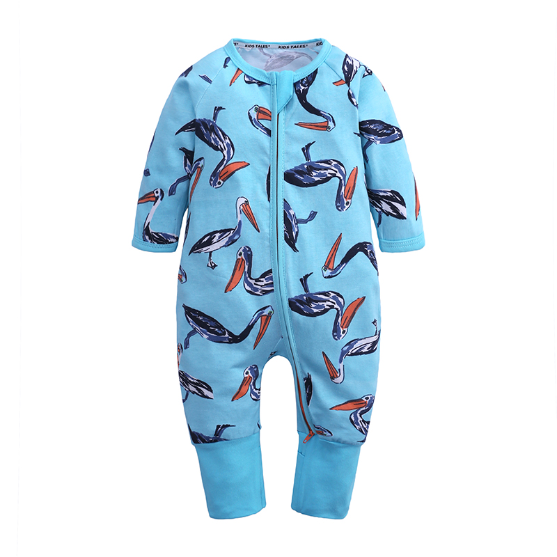 boy girl long sleeve animals print rompers new born baby clothes summer 2019 unisex newborn costume kids jumpsuit cotton toddler