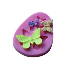 Three Kinds  Butterfly Shape Silicone Cake Mold , Silicone Mould For   Candy  Cookies  Fondant Cake Tools Cake Decorating