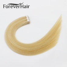 "FOREVER HAIR 2.0g/pc 18"" Remy Tape In Human Hair Extension Piano Color #24/60 European Hair Tape Skin Weft Hair Extensions 40g"