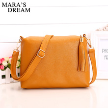 Mara's Dream Popular Handbags Mini PU Messenge Bag Small Diagonal Women One Shoulder Tassel Bags 2017 Hot sale