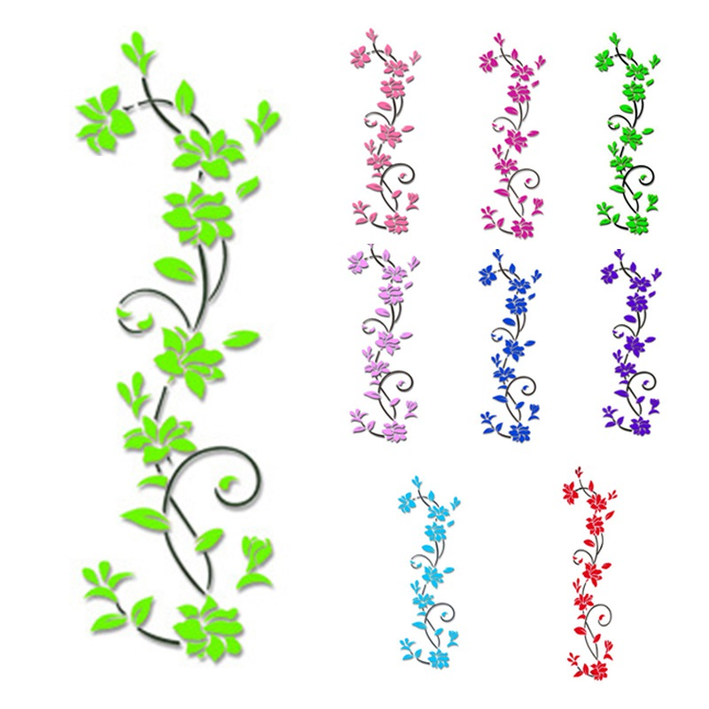 HTB1EOSwvrSYBuNjSspfq6AZCpXa3 - Hoomall Acrylic Flower Wall Stickers Poster New Year Decorations Removable Stickers for Kitchen DIY Wall Stickers for Kids Rooms