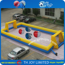 cheap football field for body bumper balls game / new design inflatable soccer field for bumper balls