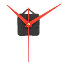 New Quartz Clock Movement Mechanism Parts Replacing DIY Essential Tools Set with Red Hands Quiet Silent