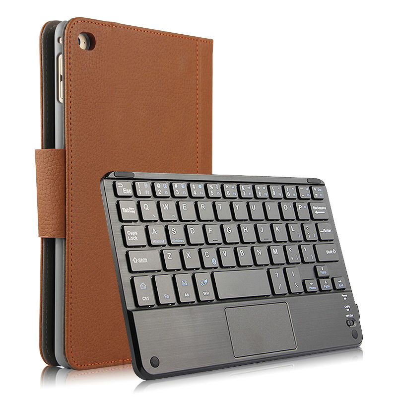 Case For iPad mini 4 Protective Wireless Bluetooth keyboard Smart cover Leather Tablet PC For iPad mini4  Protector PU 7.9 inch<br>