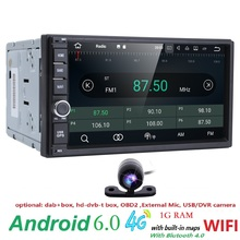universal 2din android6.0 car radio Car Multimedia Player for nissian Car PC Table car audio vehicle gps Navigation 4GWIFI 0BD2(China)