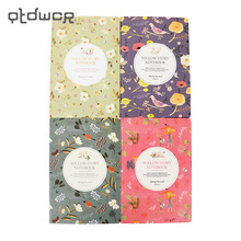 1PC New Arrivals Kawaii Cute Flowers Birds Animal Notebook Painting of Diary Book Journal Record Office School Supplies(China)