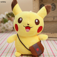 New arriving 20CM Pikachu Plush Toys Cute Pikachu Soft Toy For Children Gift Chirstmas Collection for kids christmas gift(China)