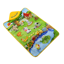 Farm Animal Kids Baby Musical Music Touch Play Singing Gym Carpet Mat Toy Gifts Baby Educational Toy