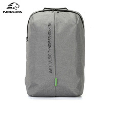 Kingsons Laptop Backpack 15.6 Inch High Quality Waterproof Nylon Bags Business Dayback Men and Women's Knapsack(China)