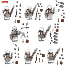 Oenux New World War 2 Battle of the Caucasus Model Military Building Block Toys WW2 German Military Figure Brick MOC Toy For Kid(China)