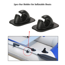 2pcs Inflatable Boat Paddle Clips Oar Rowing Pole Paddle Clips Holder Mount Patch for Rowing Boat Dinghy Kayaks Accessories(China)