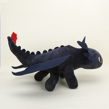 55cm cute Night Fury Plush Toy How To Train Your Dragon 2 Toothless Dragon Stuffed Animal Dolls(China)